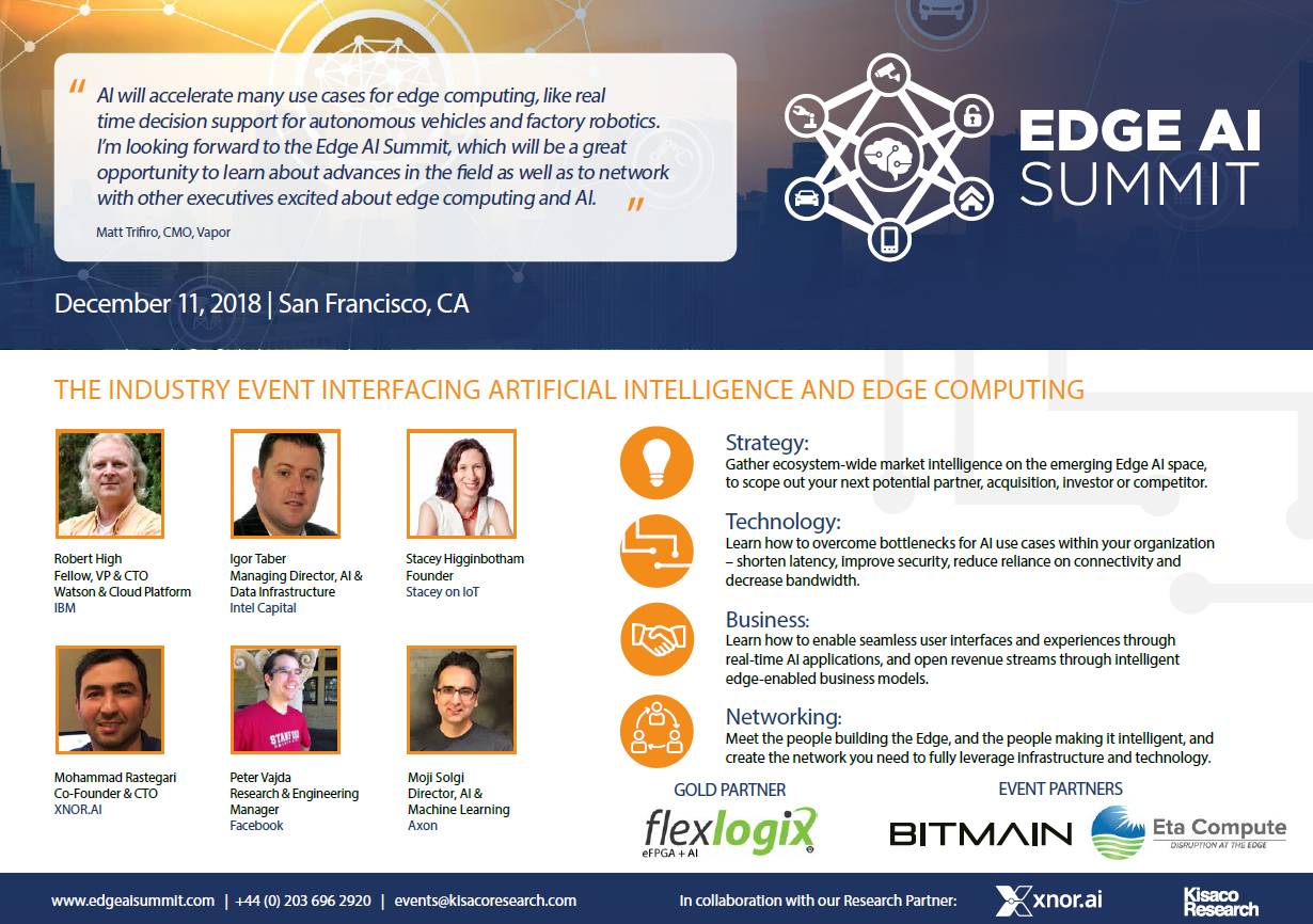 Edge AI Summit Agenda